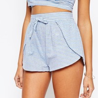 ASOS Seersucker Stripe Beach Short Co-ord at asos.com