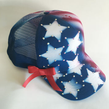 Red White & Blue Snapback Cap