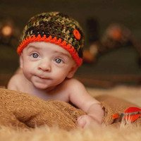 Photography Prop for Little Hunting baby boy Diaper cover and hat set-