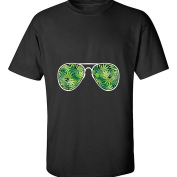 Sunglasses Weed Pattern 420 Marijuana Smoking T-Shirt