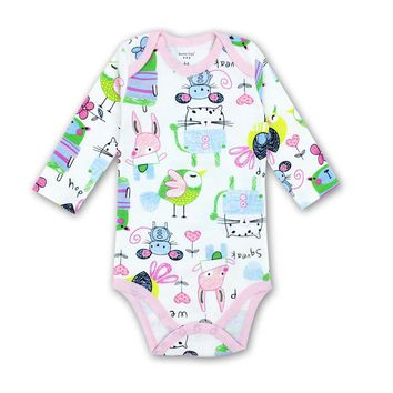 1 Year Birthday Baby girl Clothes O-neck Baby Rompers daughter Vestido Infantil Newborn Girl Long Sleeve Baby AGLDI