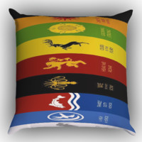 Game Of Thrones all logo Zippered Pillows  Covers 16x16, 18x18, 20x20 Inches