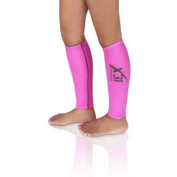 Pink Compression Calf Sleeve Leg Warmers for Running