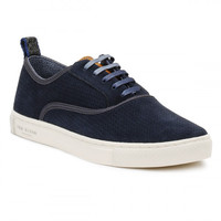 Ted Baker Mens Dark Blue Odonel Perforated Suede Trainers