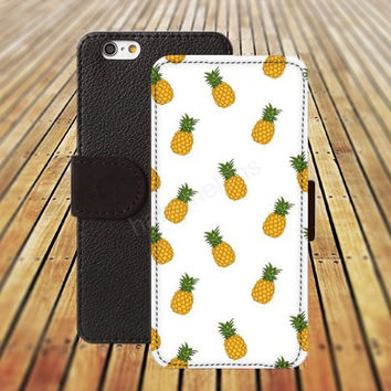 iphone 5 5s case Yellow pineapple iphone 4/ 4s iPhone 6 6 Plus iphone 5C Wallet Case , iPhone 5 Case, Cover, Cases colorful pattern L092