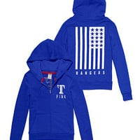 Texas Rangers Bling Full-Zip Hoodie - PINK - Victoria's Secret