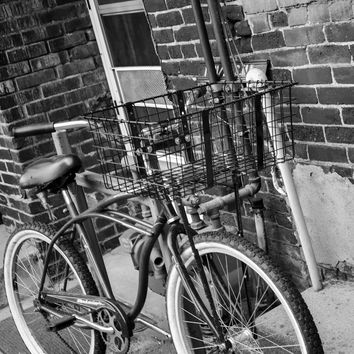 Bike Cruiser Black and White