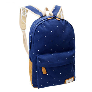 Korean Canvas Printing Backpack Women School Bags for Teenage Girls Cute Bookbags Vintage Laptop Backpacks Female bolsa feminina