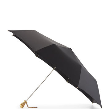 Skull Folding Umbrella, Black/Golden - Alexander McQueen