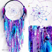 Cosmic Galaxy Native Style Large Woven Dreamcatcher