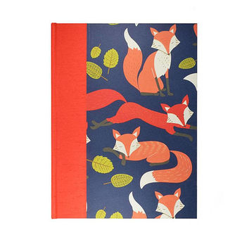 Baby  Keepsake Memory Book Red Foxes