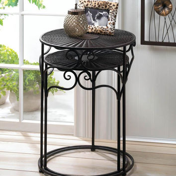 Woven Iron Wicker Round Nesting Tables | Set of 2 | SAVE $60
