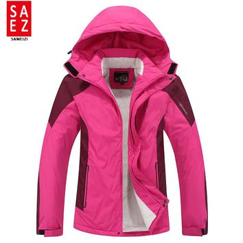 Plus Size Women ski jacket women Mountain Thicken Plus fleece ski-wear waterproof hiking outdoor snowboard jacket snow jacket