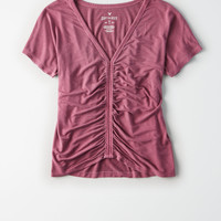 AE Soft & Sexy Cinch Front Dolman Tee , Rose