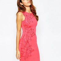 Michelle Keegan Loves Lipsy Mesh Floral Embroidered Bodycon Dress