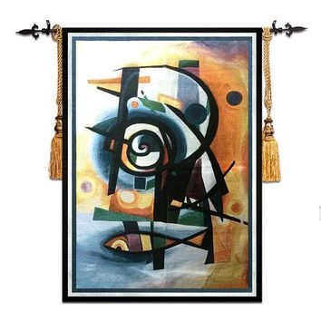 MDIG9GW 58*79cm Mediterranean style home art decor abstract fish wall carpet picture hanging tapestry RS-17