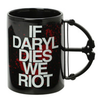 The Walking Dead If Daryl Dies We Riot Crossbow Mug