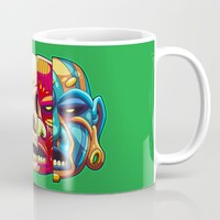 Warrior Unmasked Mug by Artistic Dyslexia | Society6