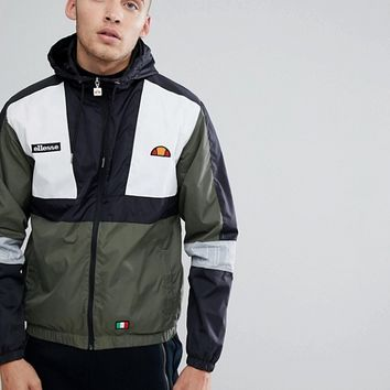Ellesse Lightweight Hooded Track Jacket With Sleeve Print at asos.com