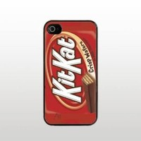 Kit Kat Chocolate Bar iPhone 5 5s Case - Hard Plastic Snap-On Custom Cover - Black
