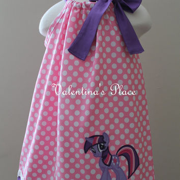 Adorable My little Pony's Twilight Sparkle inspired pillowcase style dress