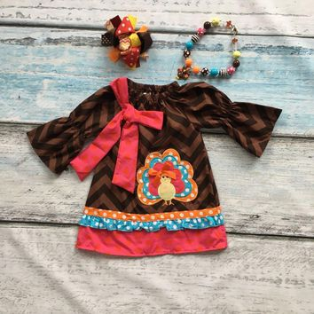 baby girls thanksgiving dress baby kids chevron dress children turkey dress baby girls boutiques dress with accessories