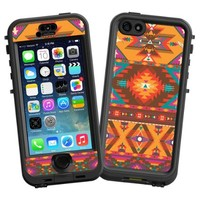 """Aztec Tribal """"Protective Decal Skin"""" for LifeProof nuud iPhone 5s Case"""