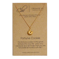 Fortune Necklace- Fortune Cookies Necklace Symbolic Gift Ideas For BFF Meaningful Message Jewelry Blessing Wealth Surprise ChristmasGift