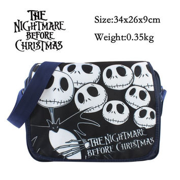 2017 New Cartoon Bag The Nightmare Before Christmas Messenger Canvas Bag Shoulder Bag Sling Pack School Bags