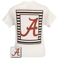 Alabama Crimson Tide Preppy Glitter Logo Girlie Bright T Shirt