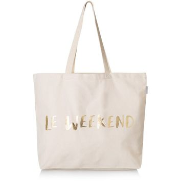 Gold Le Weekend Shopper Bag | Oliver Bonas