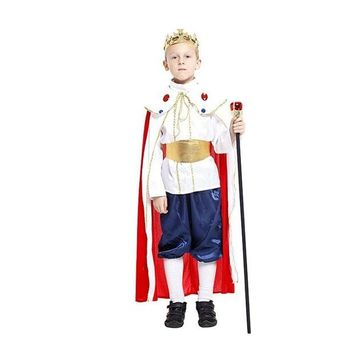 LMFON 3 size new boys Royal king halloween king cosplay costumes children Ancient king Prince suit for kids full children's costume