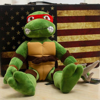 1 pcs Teenage Mutant Ninja Turtles Plush Toys 28cm Stuffed Tmnt Plush Dolls For Boy Birthday Gift Christmas Present juguete