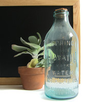 Three Potato Four - Hiawatha Spring Water Blue Glass Bottle