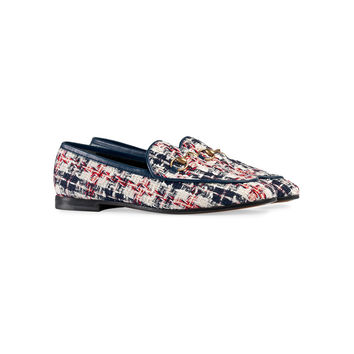 Gucci Tweed Loafers - ShopBAZAAR