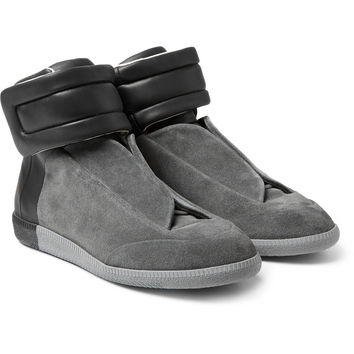 Maison Margiela - Future Suede And Leather High-Top Sneakers