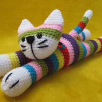 Crochet --- PATTERN --- Moe The Stripey Cat Amigurumi Toy PDF