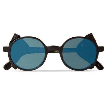 L.G.R - Leather-Trimmed Sunglasses | MR PORTER