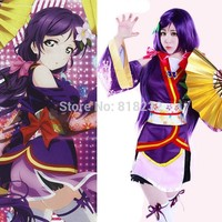 Love Live School Idol Project Angelic Angel Tojo Nozomi Kimono Uniform Dress Outfit Anime Cosplay Costumes