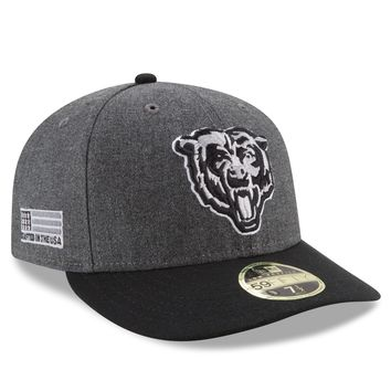 Men's Chicago Bears New Era Graphite Crafted In America Low Profile 59FIFTY Fitted Hat