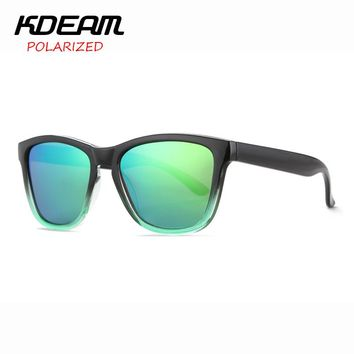 New Frog Style Polarized Sunglasses Men Reflective Coating Sun Glasses Women All Fit Size Shades