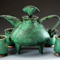 Tea Service: Daniel Slack: Ceramic Tea Set - Artful Home
