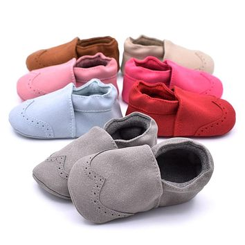Baby Shoes Anti-slip First Walkers Little Boys Girls Moccasin Soft Sole Infant Shoes