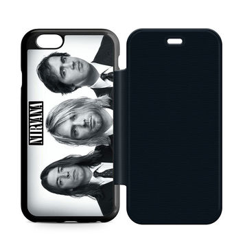 Nirvana Band Leather Wallet Flip Case iPhone 6 | 6S