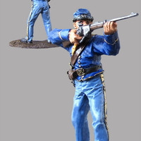 Legends Action Figures US cavalryman 19th century. Civil war. Hand painted toy. Collection 54mm 1/32 miniature figurine - Free Shipping