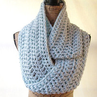 New Glacier Blue Ice Cowl Scarf Fall Winter Women's Accessory Infinity