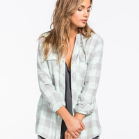 Full Tilt Washed Buffalo Womens Hooded Flannel Shirt Multi  In Sizes