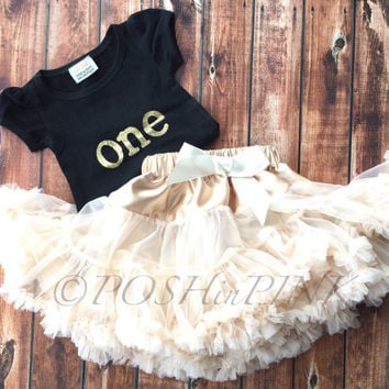Ivory chiffon pettiskirt, kids, petti skirt, Birthday shirt one, 1 years old, outfit cream, baby, chiffon girls skirt, toddler, 1st, fluffy