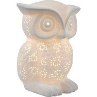 Simple Designs Porcelain Wise Owl Shaped Animal Light Table Lamp - Walmart.com
