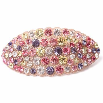 Hot 2016 New High Quality Hair jewelry Acrylic Austria Rhinestone Crystal Hair Barrette for Women Clips for Hair Hairpins AA30